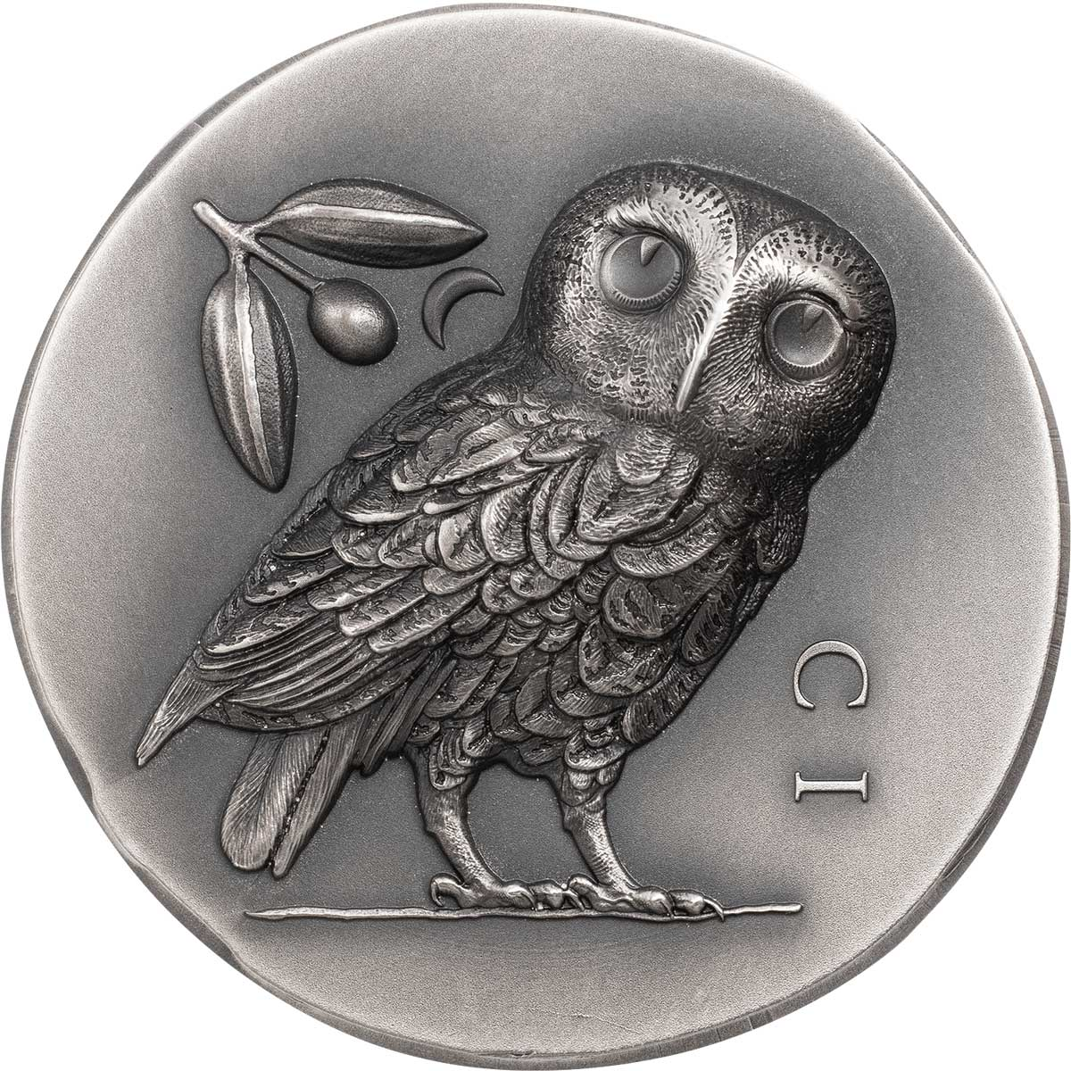 ATHENA'S OWL 2021 Cook Islands 1oz ultra high relief