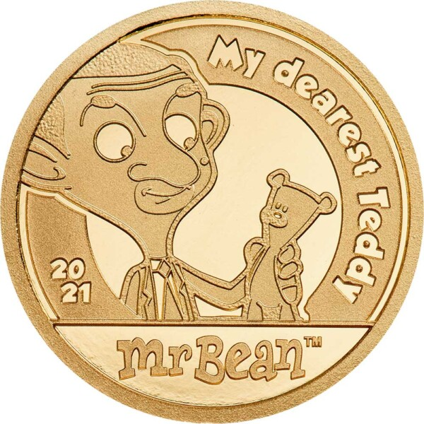 MR BEAN – MY DEAREST TEDDY 2021 Cook Islands 0.5g gold coin