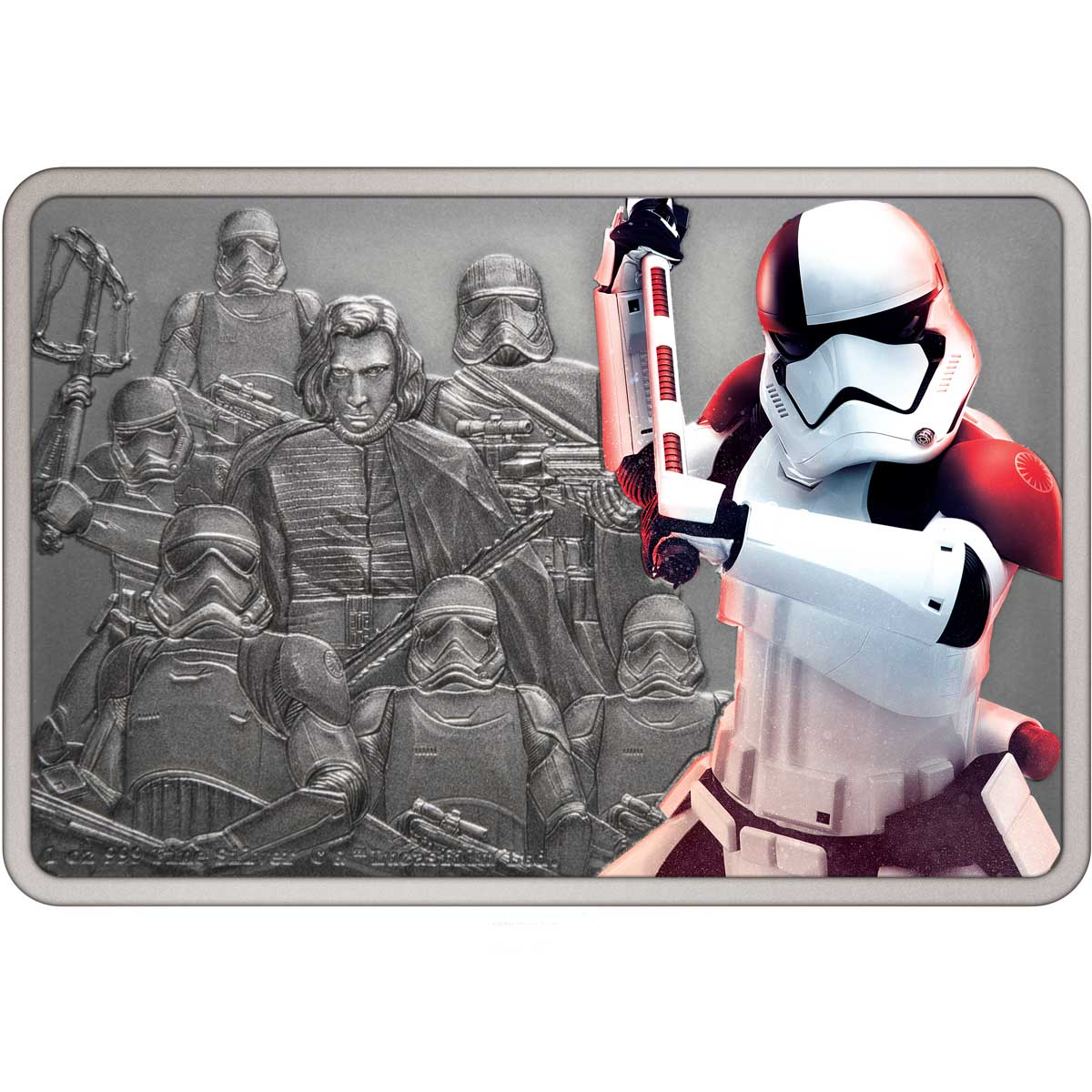 STAR WARS GUARDS OF THE EMPIRE: 2021 EXECUTIONER TROOPER Niue 1oz silver coin