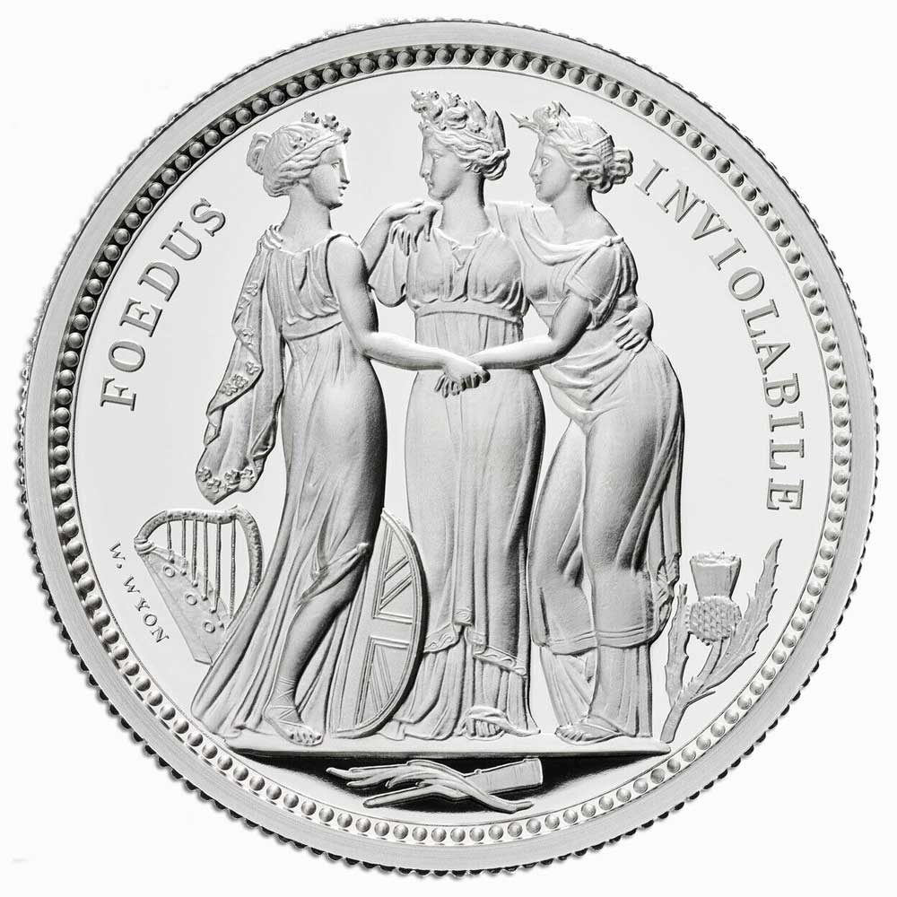 GREAT ENGRAVERS: THREE GRACES 2020 UK Two-Ounce Silver Proof Coin