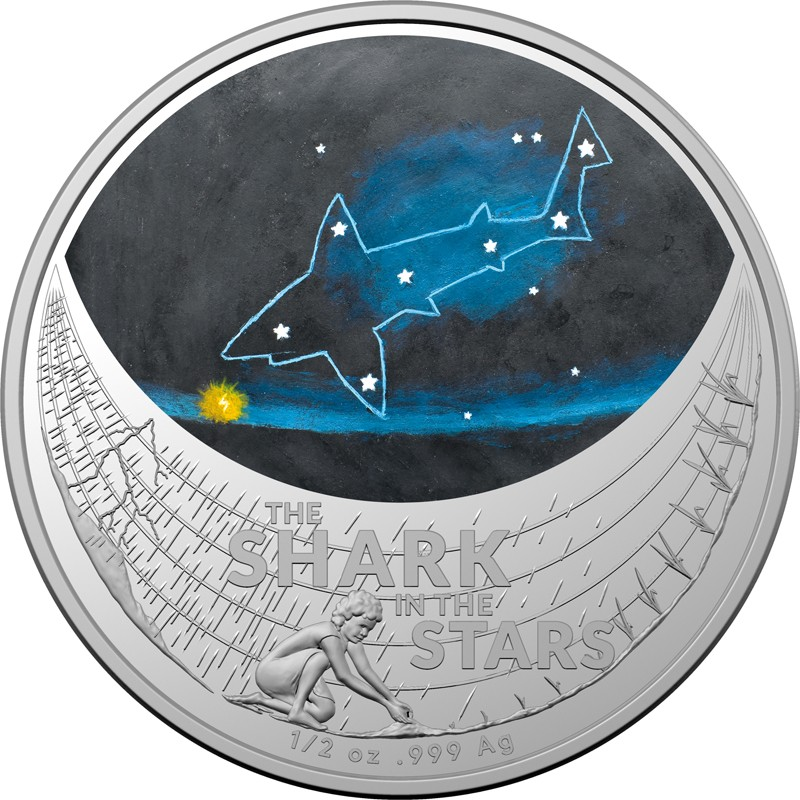 STAR DREAMING - BEIZAM THE SHARK IN THE STARS 2021 1/2 silver coin