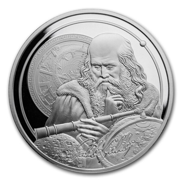 ICONS OF INSPIRATION: GALILEO 2021 Niue 1oz .999 BU silver coin