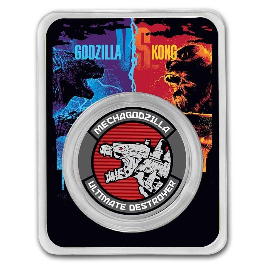 GODZILLA VS KONG - MECHAGODZILLA: 2021 Niue 1oz .999 coloured silver coin