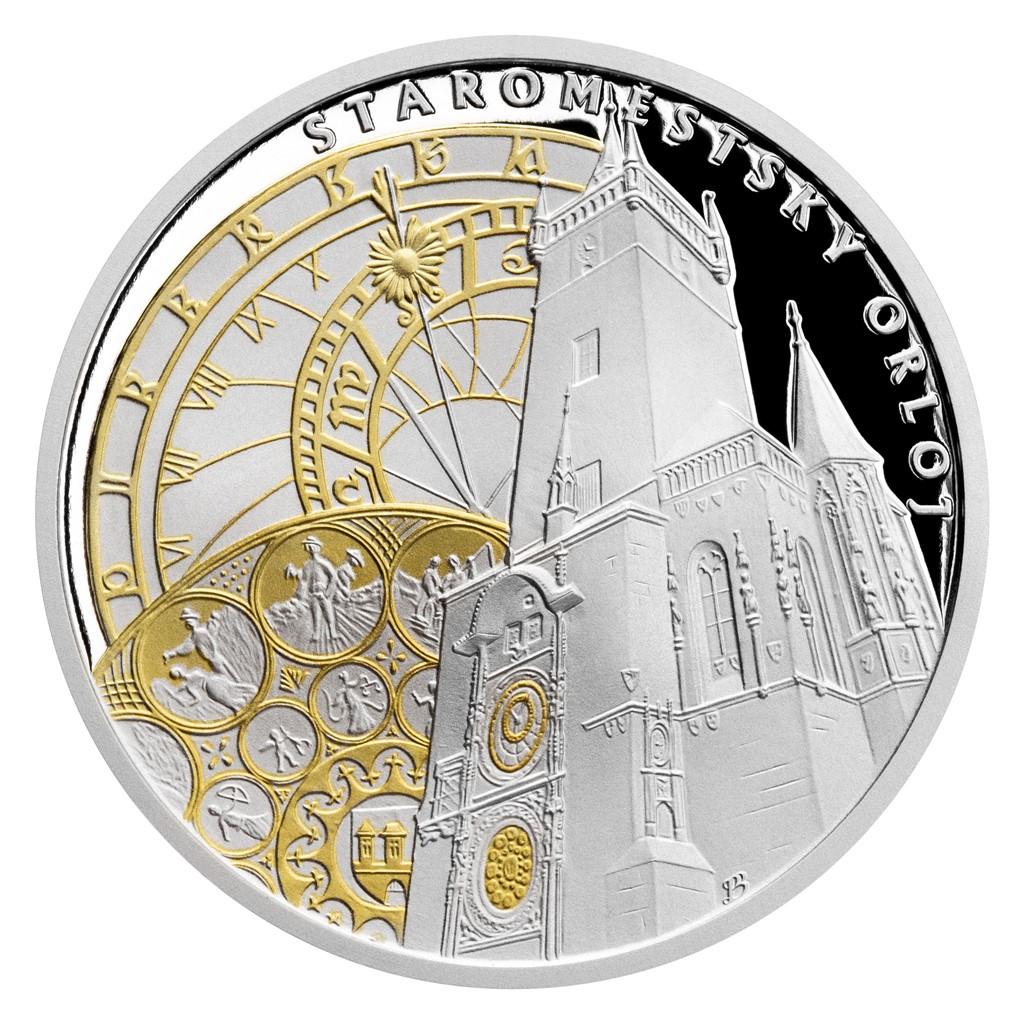 PRAGUE ASTRONOMICAL CLOCK 2020 Niue 13g proof silver coin
