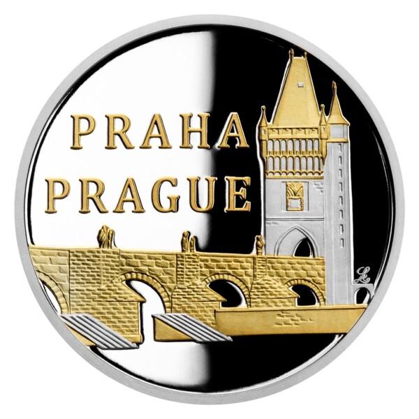 PRAGUE CHARLES BRIDGE 2020 Niue 13g proof silver coin