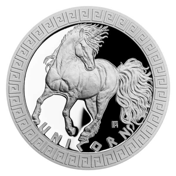 MYTHICAL CREATURES - UNICORN 2021 Niue 1oz proof silver coin