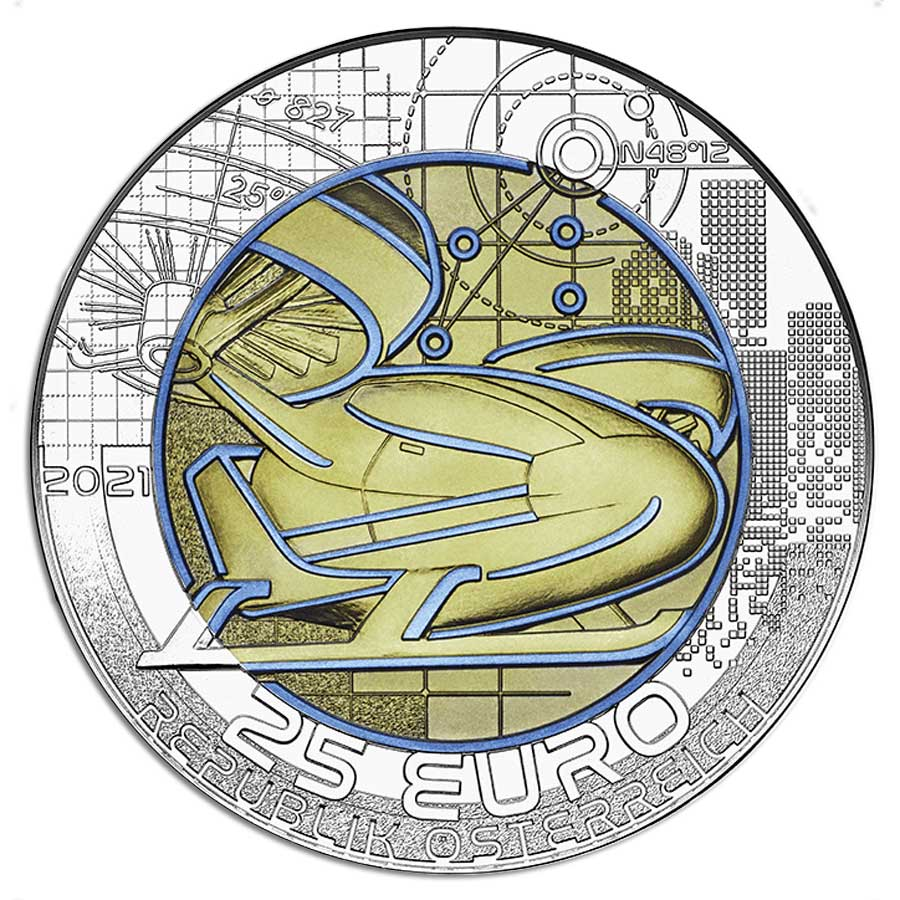 SMART MOBILITY - 2021 €25 Austria 16.5g Silver Niobium Coin