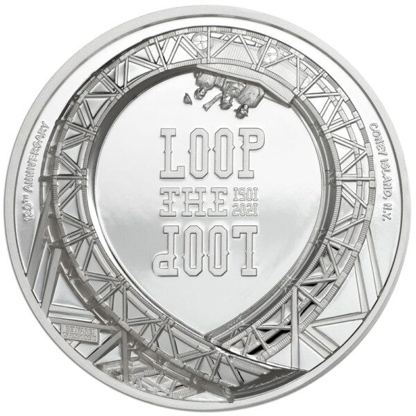LOOP THE LOOP 2021 Cook Islands 1oz silver proof coin