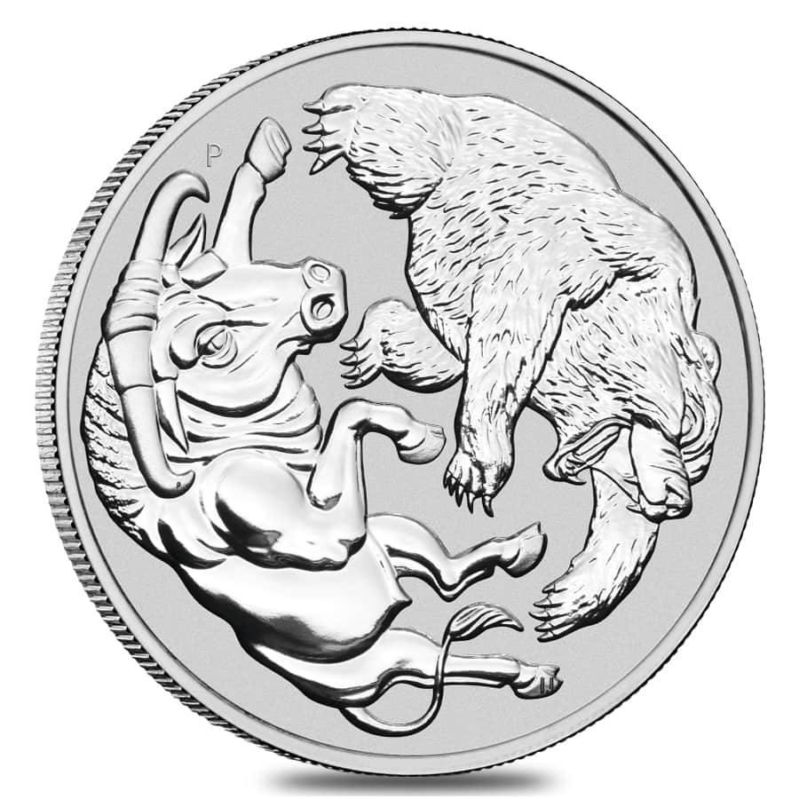 BULL & BEAR - 2020 $1 Australia 1oz Silver BU