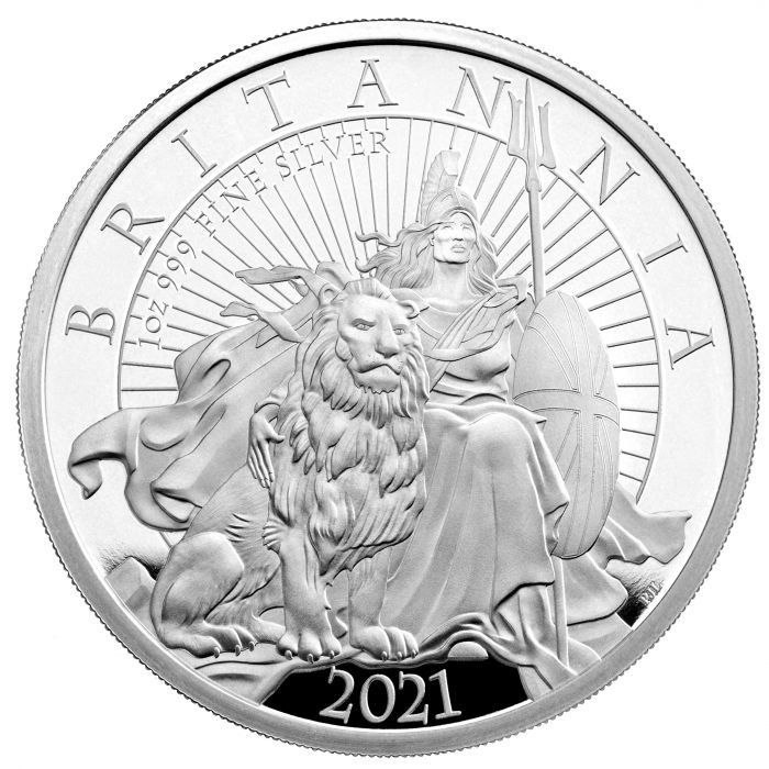 THE BRITANNIA 2021 UK One Ounce Silver Proof Coin