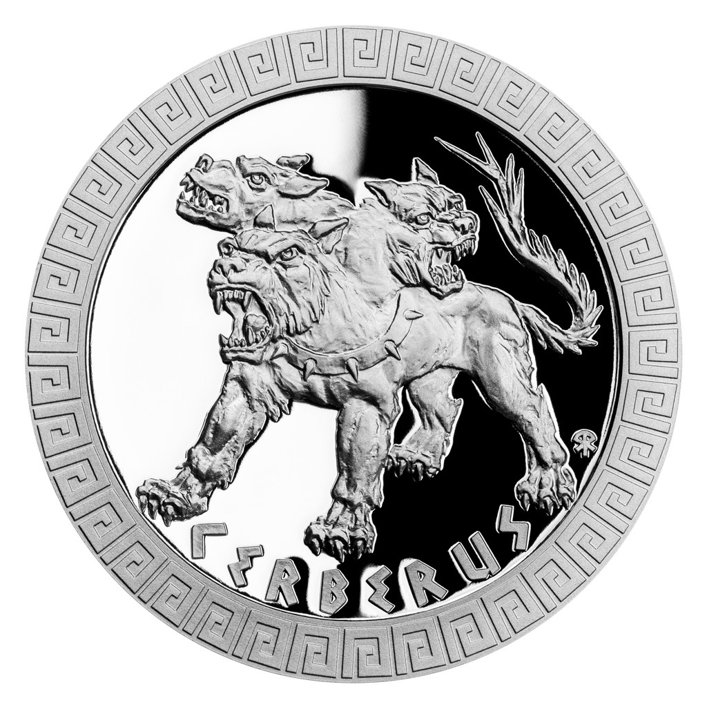 MYTHICAL CREATURES - CERBERUS 2021 Niue 1oz proof silver coin