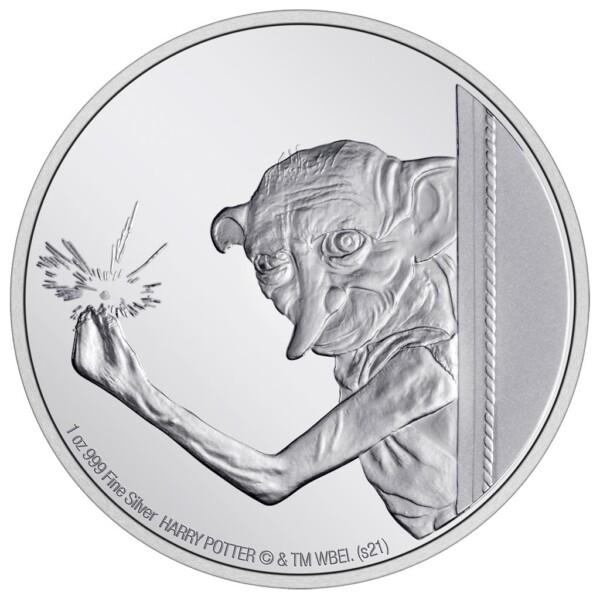 HARRY POTTER: DOBBY THE HOUSE ELF - 2021 1oz silver coin