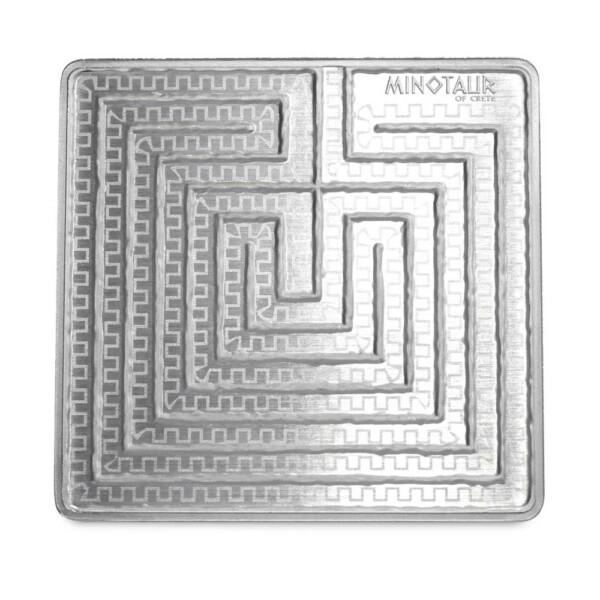 MINOTAUR: THE LABYRINTH OF CRETE - 2021 Solomon Islands $4 Pamp Suisse 1.5oz Silver Coin