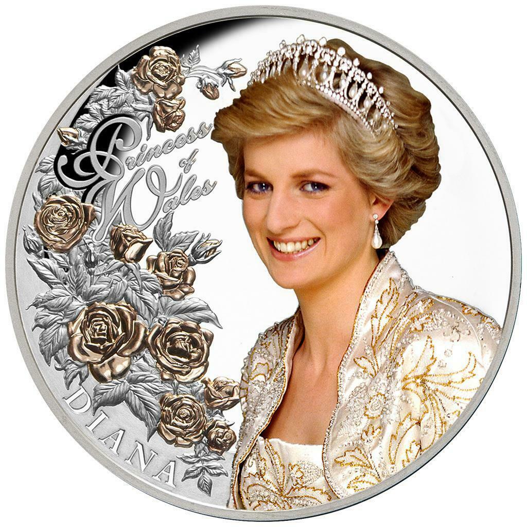 DIANA PRINCESS OF WALES: 2021 Tokelau 1oz .999 proof silver coin