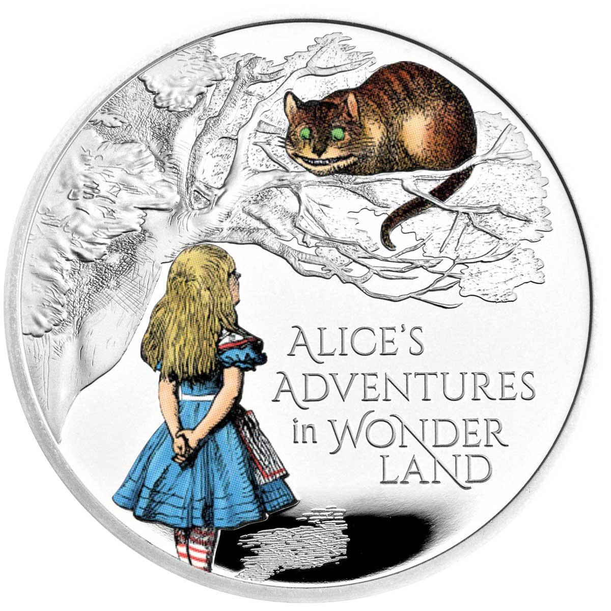 ALICE'S ADVENTURES IN WONDERLAND 2021 United Kingdom 1oz silver proof coin