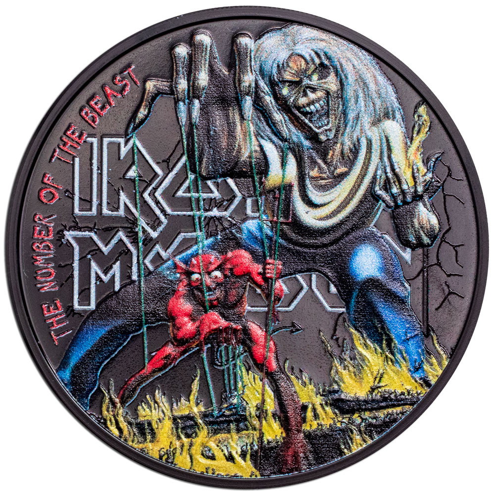 IIRON MAIDEN – THE NUMBER OF THE BEAST 2022 Cook Islands 1oz silver proof coin