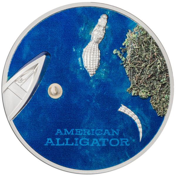 AMERICAN ALLIGATOR - 2022 Palau 1oz proof silver coin