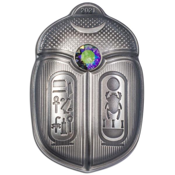 SCARAB - KING TUT 2021 Palau 1oz antique silver