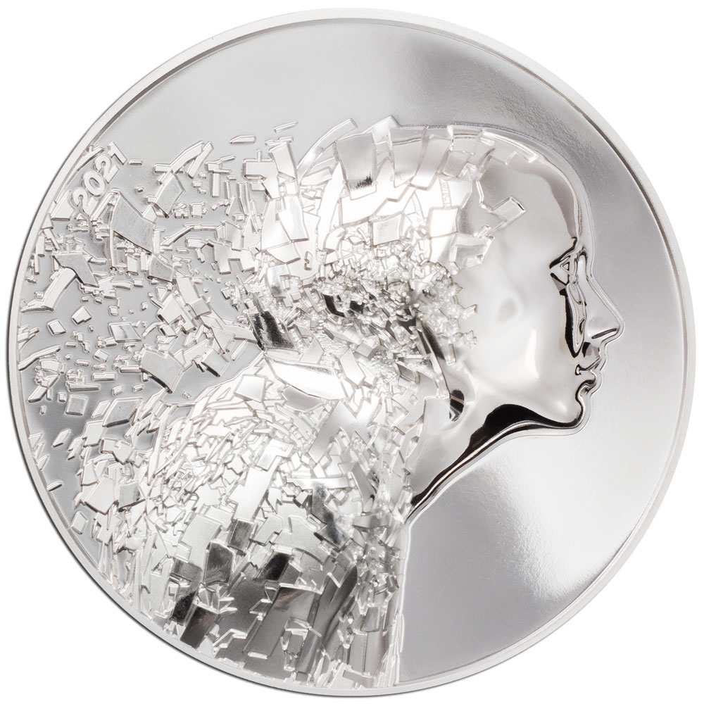 SILVER BURST - 2021 Cook Islands 3oz silver proof coin