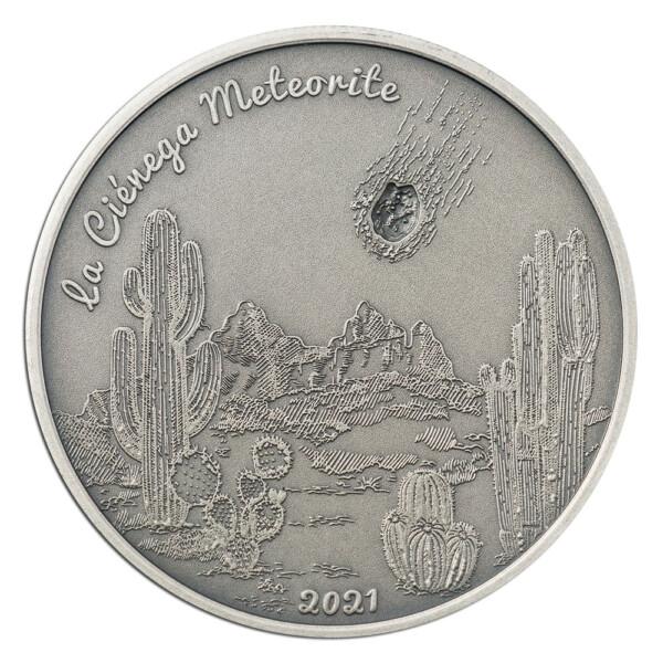 LA CIÉNEGA – METEORITES IMPACTS: 2021 Cook Islands 1oz proof silver coin