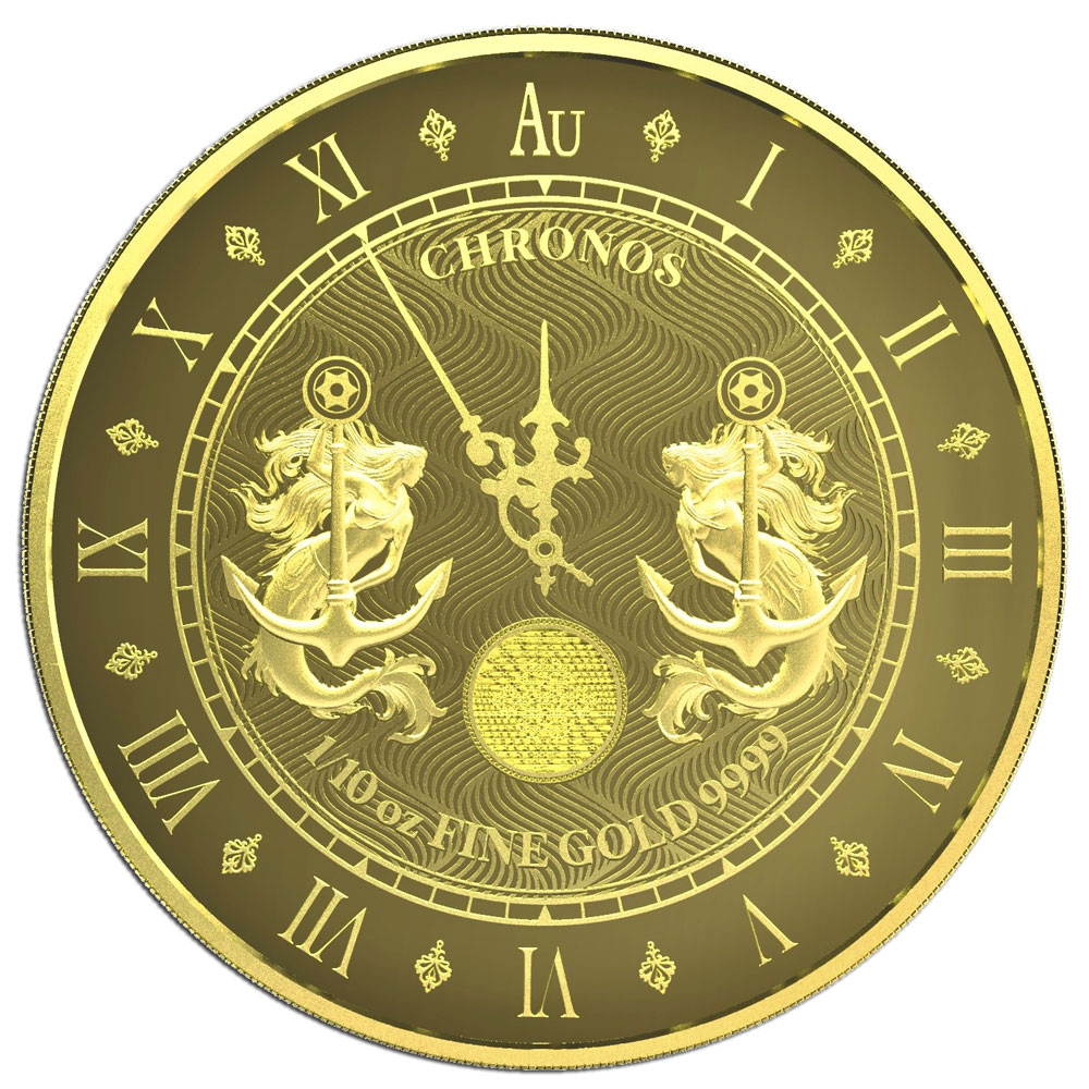 CHRONOS 2021 Tokelau 1/10 oz Gold Prooflike