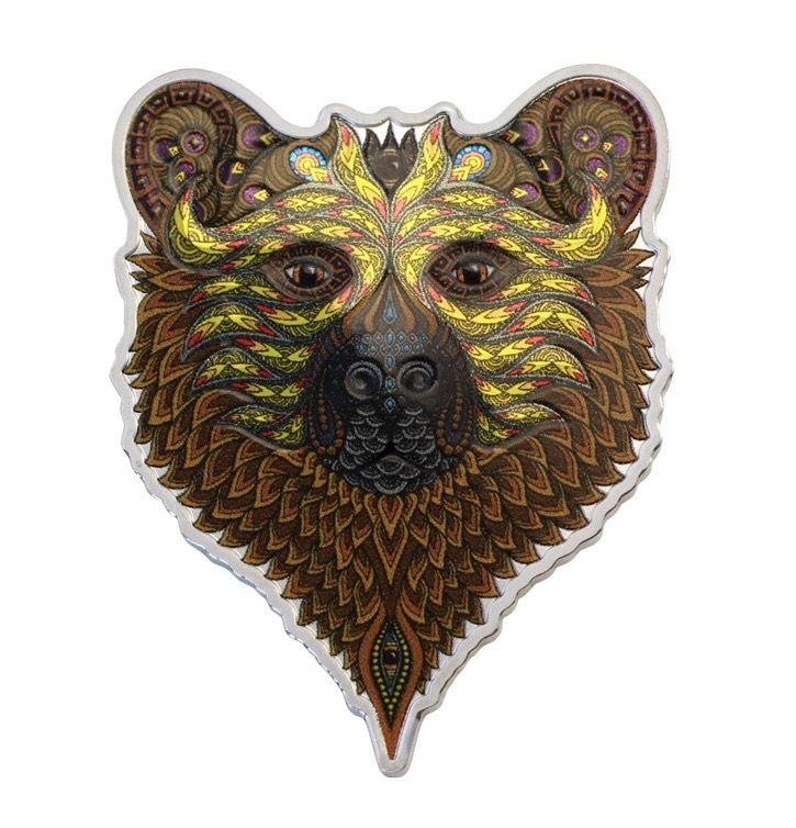 SPIRIT ANIMALS - GRIZZLY BEAR 2021 Solomon Islands $2 1oz Silver Coin