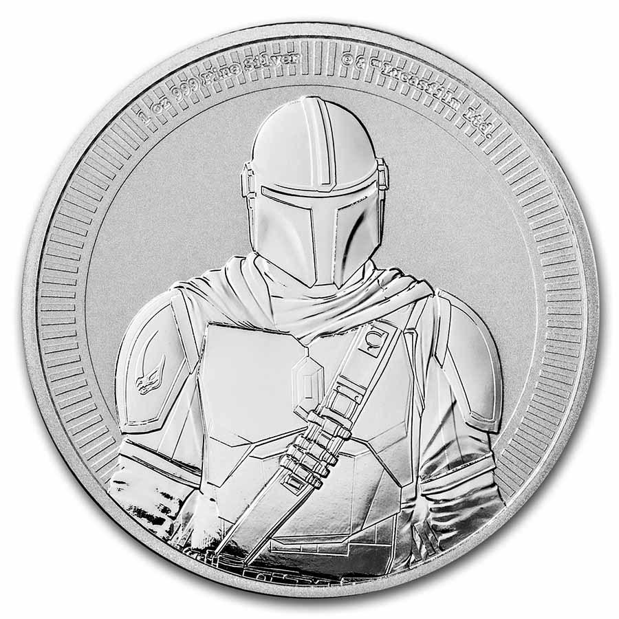 STAR WARS THE MANDALORIAN™ 2021 Niue1oz Silver BU Coin