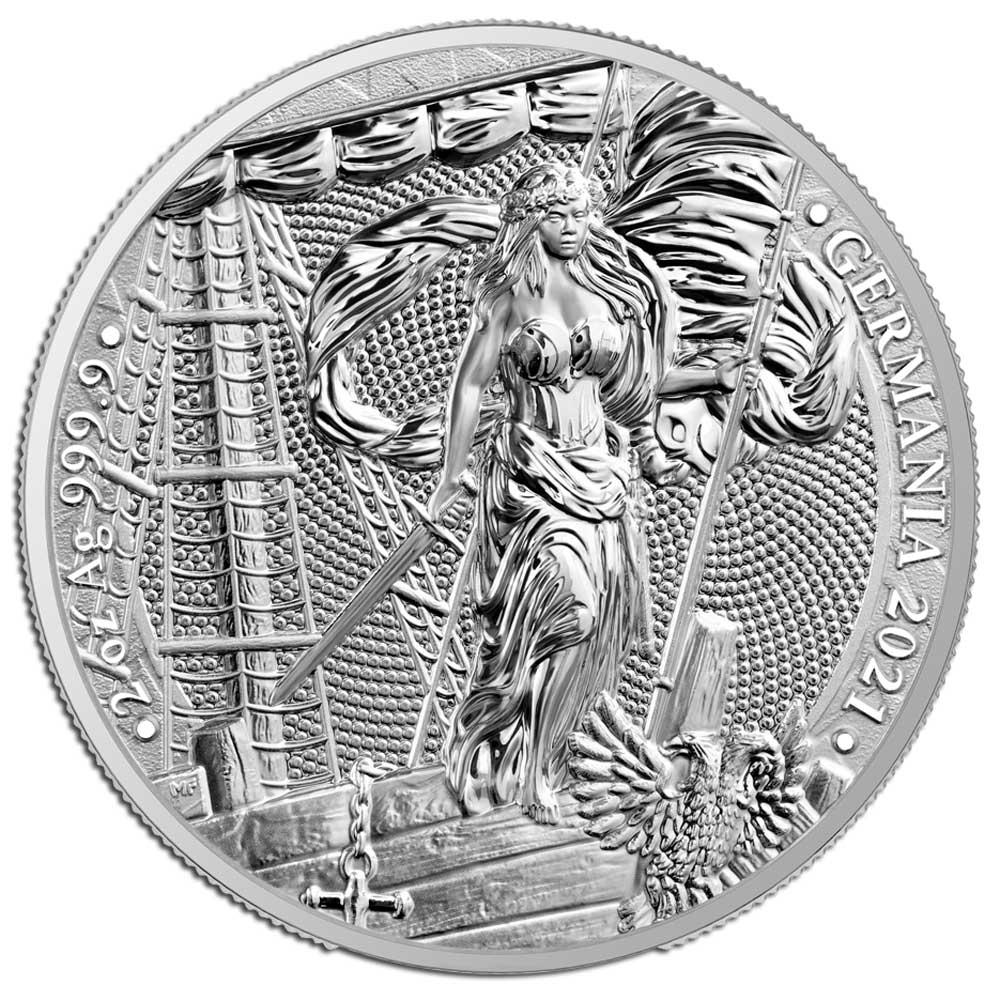 GERMANIA - 2021 10 Mark 2oz silver BU